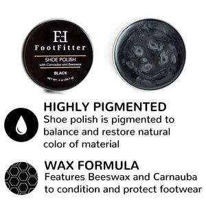 FootFitter Shoe Polish with Carnauba and Beeswax - 3 Pack FootFitter