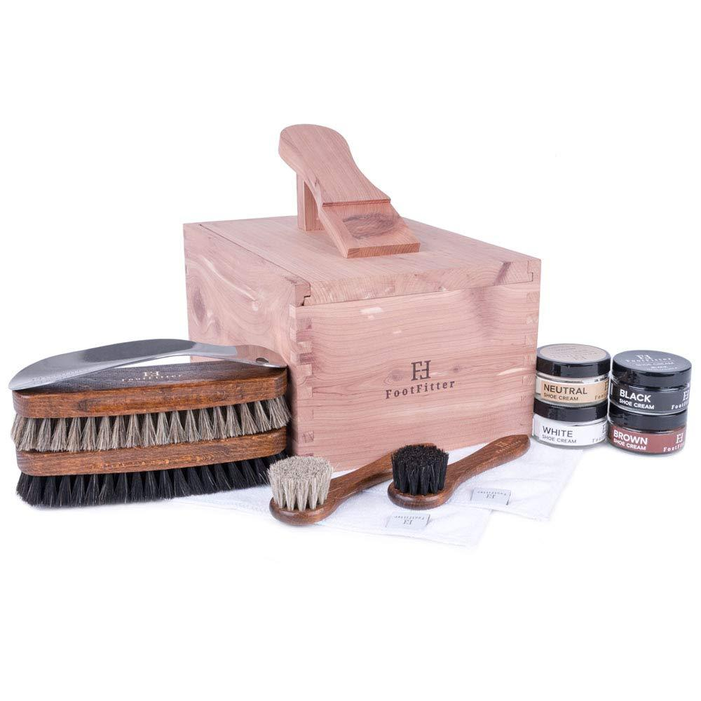 FootFitter Shoe Shine Valet Set for Men FootFitter