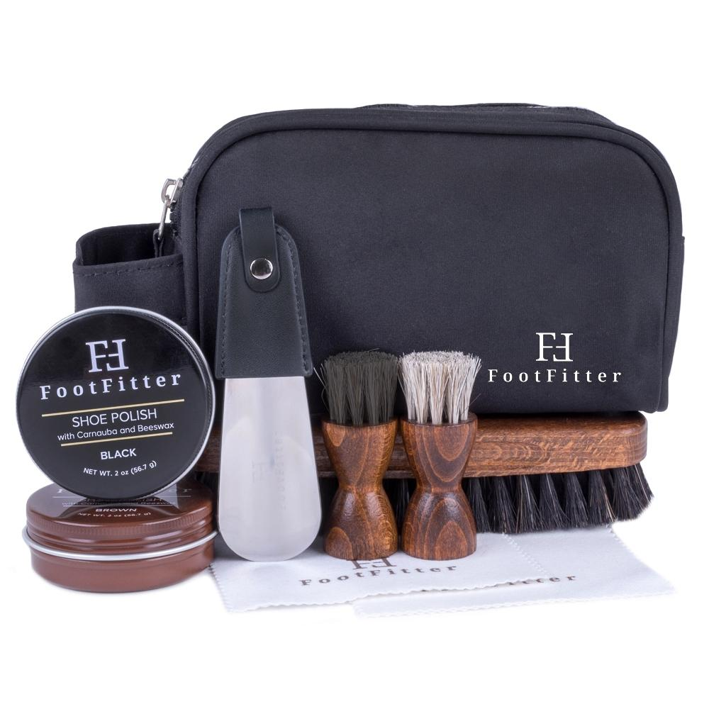 FootFitter Travel Shoe Shine Kit FootFitter