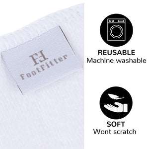 FootFitter Ultrasoft Microfiber Cleaning and Conditioning Shoe Shine Cloth, 3 Pack FootFitter