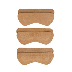 Heel Lovers Suede Leather Heel Grips, Brown - 3-Pack FootFitter