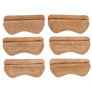 Heel Lovers Suede Leather Heel Grips, Brown - 6-Pack FootFitter