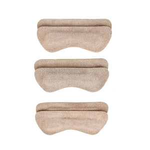 Heel Lovers Suede Leather Heel Grips, Tan - 3-Pack FootFitter