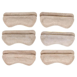 Heel Lovers Suede Leather Heel Grips, Tan - 6-Pack FootFitter