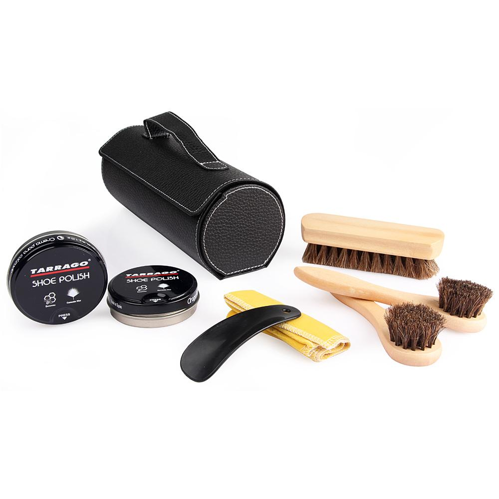 Tarrago Shoe Shine Travel Kit, Black Case FootFitter