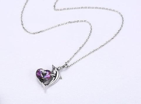 Collier Coeur Dauphin