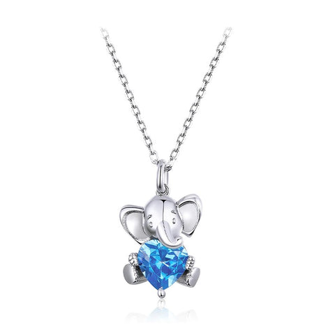 collier coeur elephant