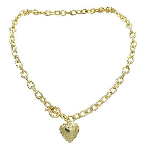 collier coeur or