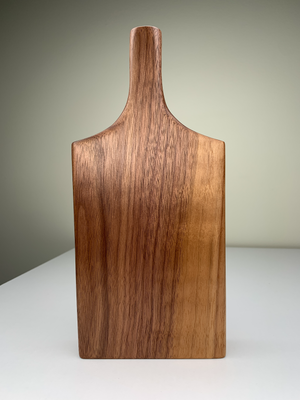 Blonde Walnut Bottle Vase
