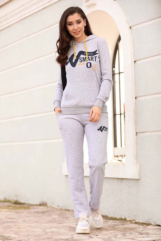 Hooded Grey Training Suit - Tasamimi Store