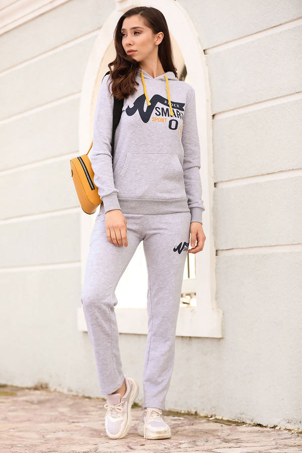 Hooded Grey Training Suit - Tala Dress Store