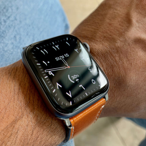 Clean Leather Apple Watch Band