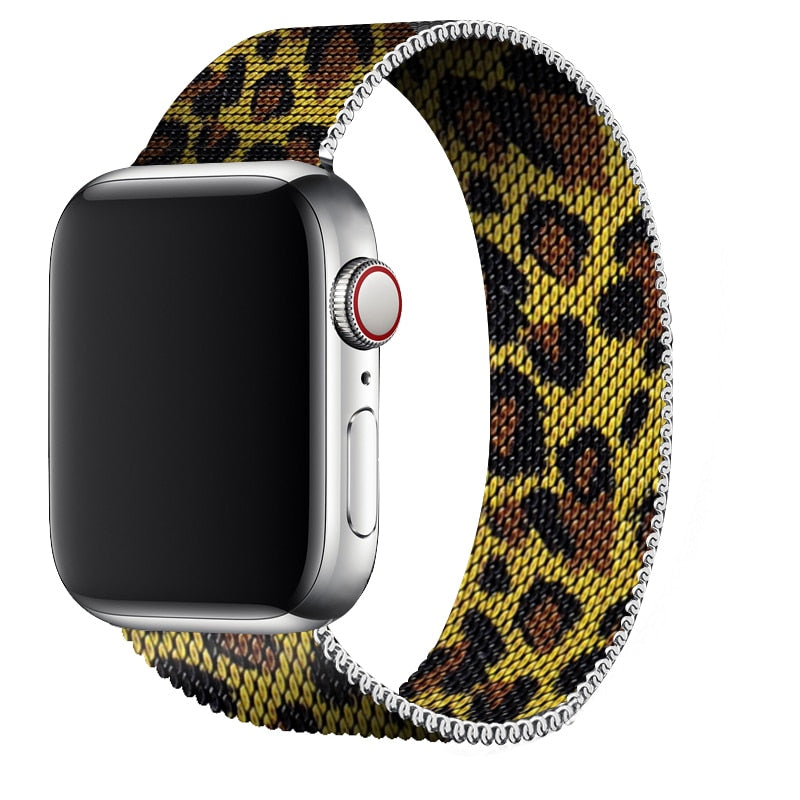 Apple Watch | Milanese | Leopard Yellow