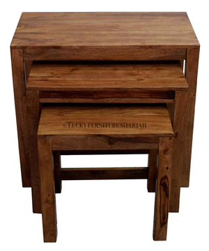 Rose wood Nesting Table  simple lucky-furniture-handicrafts.