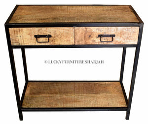 Metal & Wood Console  simple lucky-furniture-handicrafts.
