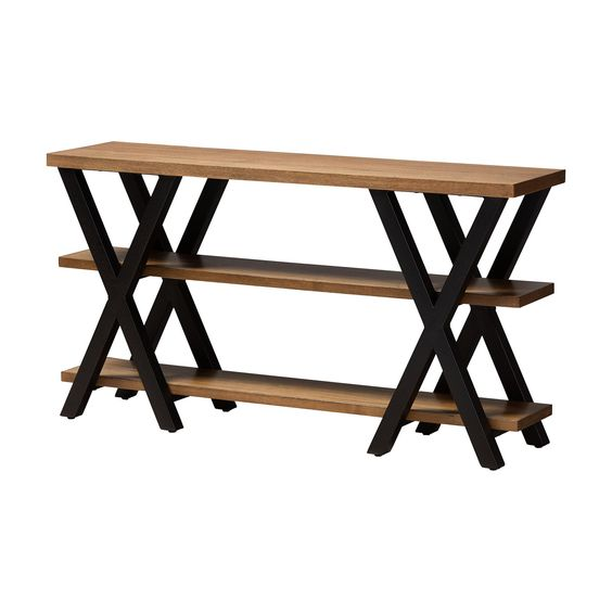 Double X Industrial Console  simple lucky-furniture-handicrafts.