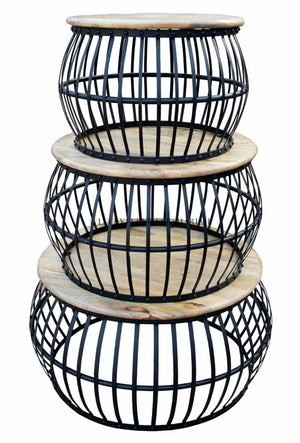 Round Caged Coffee Table  simple lucky-furniture-handicrafts.