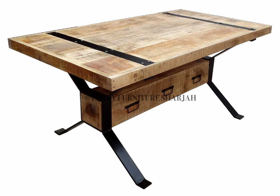 Industrial 3 Draw Table  simple lucky-furniture-handicrafts