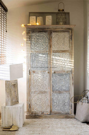 Multiple Carved Panel Cabinet  simple lucky-furniture-handicrafts.