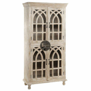 Distressed Glass Cabinet  simple lucky-furniture-handicrafts.