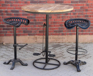 Bicycle Pedal Base High Table  simple lucky-furniture-handicrafts
