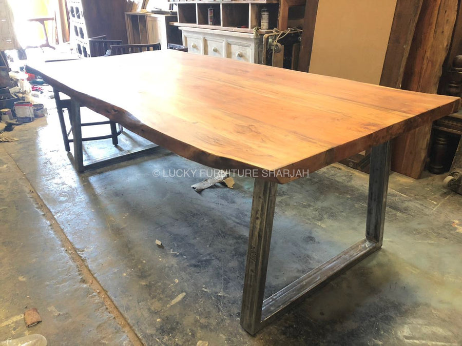 Live Edge Dining Table  variable lucky-furniture-handicrafts.