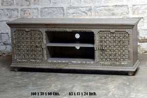 Carved Media Console  simple lucky-furniture-handicrafts.