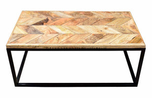 Herringbone Coffee Table  simple lucky-furniture-handicrafts