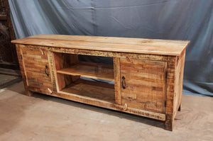 Full Wooden 2 draw tv stand staggered  variation lucky-furniture-handicrafts.