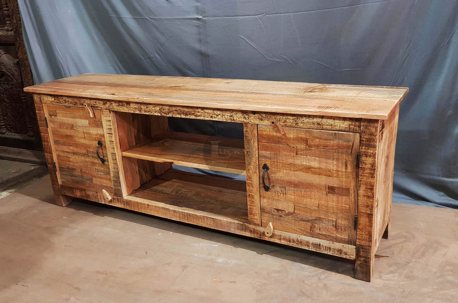 Full Wooden tv stand 2 door MW  variable lucky-furniture-handicrafts