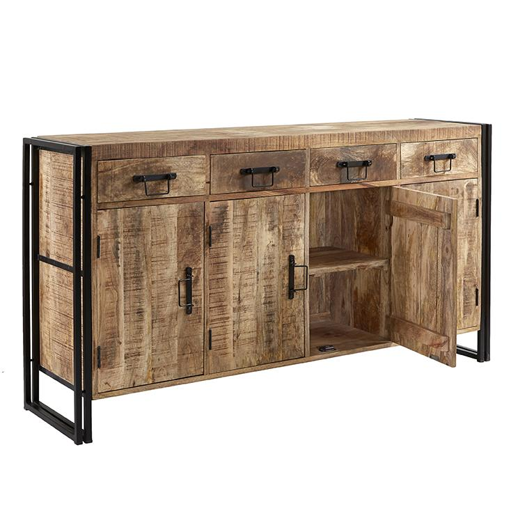 Mango Wood Sideboard 4 Draw  simple lucky-furniture-handicrafts