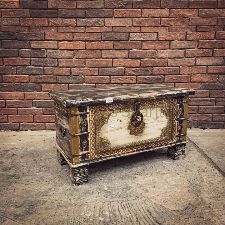 Multicolor Box with brass inlay   lucky-furniture-handicrafts.