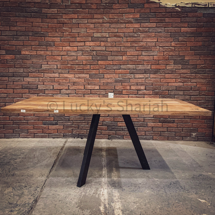 Minimalist Teak wood Table   lucky-furniture-handicrafts.