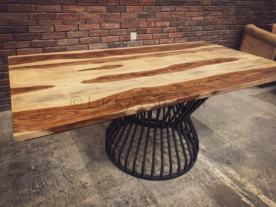Rosewood Dining table with KLOUVI Base   lucky-furniture-handicrafts.