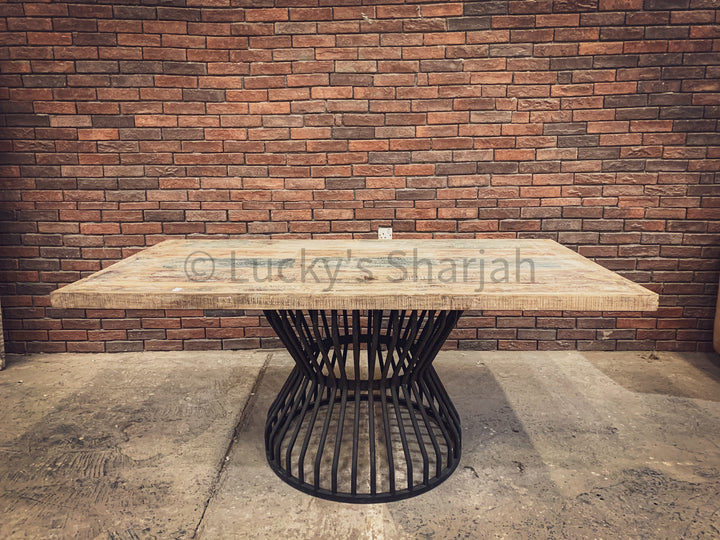 Recycle Design Dining table with KLOUVI Base   lucky-furniture-handicrafts.
