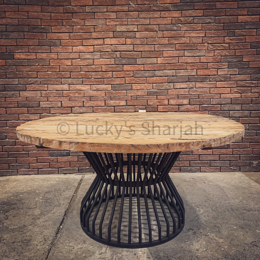 Railway Dining table with KLOUVI Base   lucky-furniture-handicrafts.