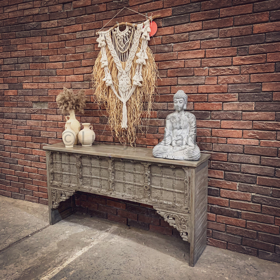 Vintage Greywash Door Console   lucky-furniture-handicrafts.