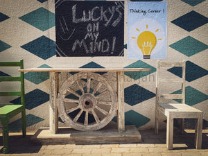 Recycle Ox Cart Wheel Table   lucky-furniture-handicrafts.