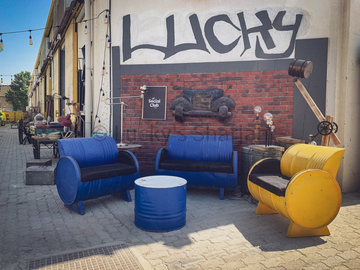 Industrial design Barrel Sofa Set   lucky-furniture-handicrafts.