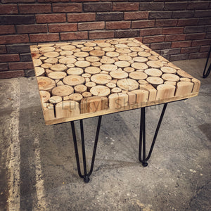 Xylo Log Pieces Sidetable   lucky-furniture-handicrafts.