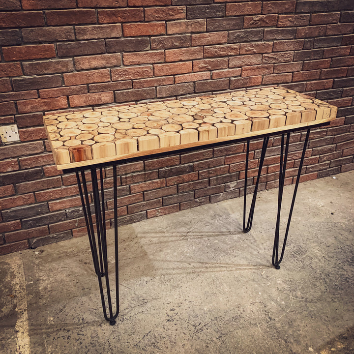 Xylo Log Pieces Console   lucky-furniture-handicrafts.