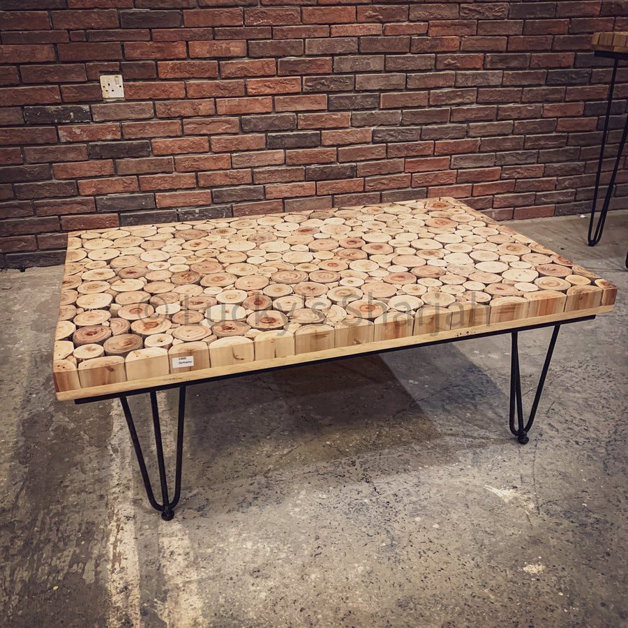 Xylo Log Pieces Table   lucky-furniture-handicrafts.
