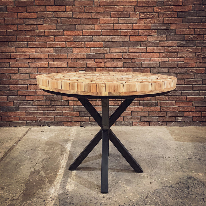 XYLO Log Pieces Round Table   lucky-furniture-handicrafts.