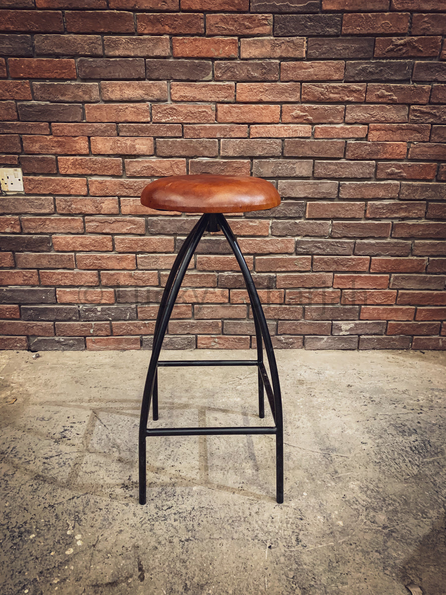 Minimalist Tan brown Bar stool   lucky-furniture-handicrafts.