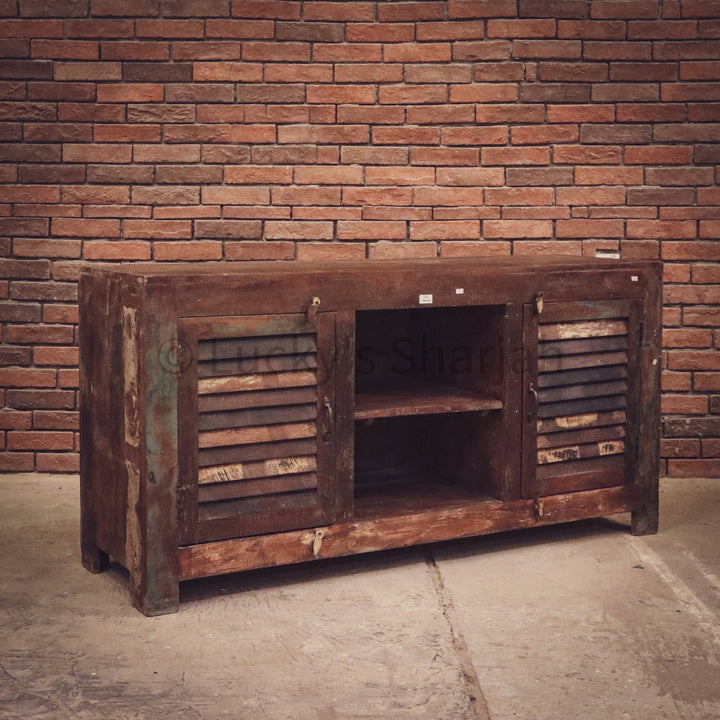 Vintage Recycle Design Cottage Chic Tv Stand   lucky-furniture-handicrafts.