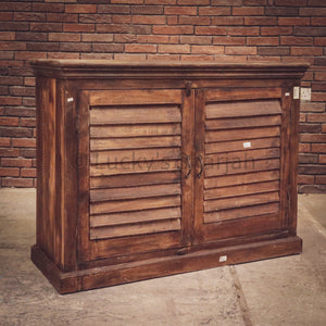 Cottage Chic Shutter Sideboard/Coffee Station   lucky-furniture-handicrafts.