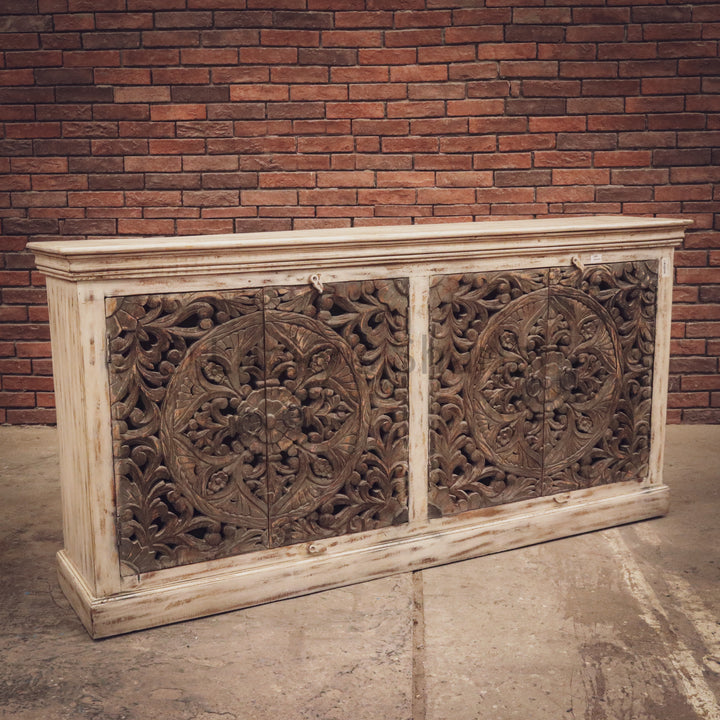 Carved Two Tone Sideboard   lucky-furniture-handicrafts.