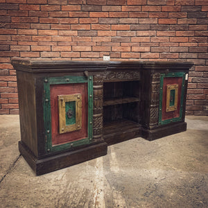 Multicolor Vintage Design Tv stand   lucky-furniture-handicrafts.
