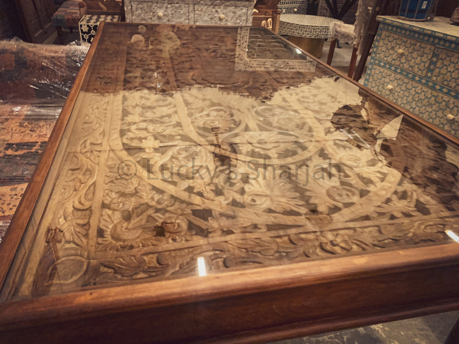 Carved Dining Table   lucky-furniture-handicrafts.