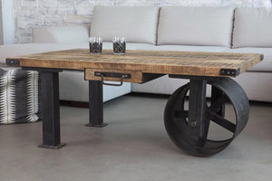 Roller Wheel Coffee Table  simple lucky-furniture-handicrafts.